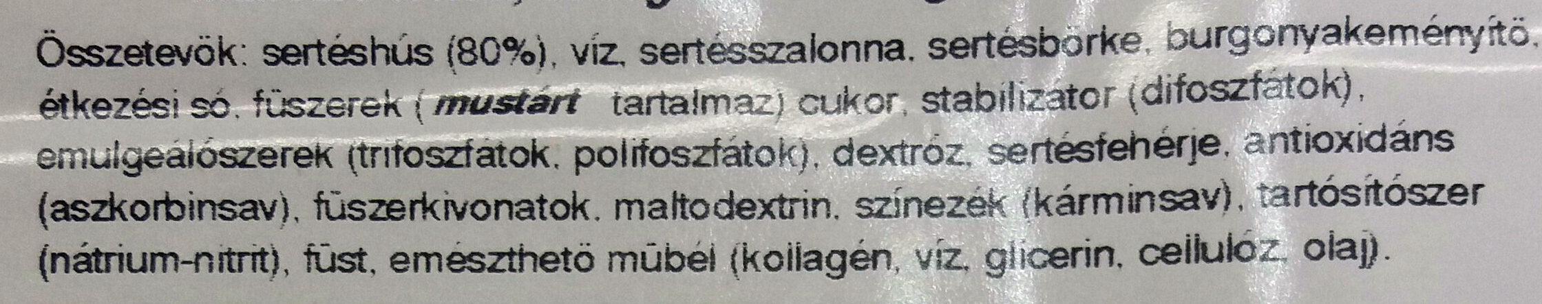 Bécsi virsli - Ingredients