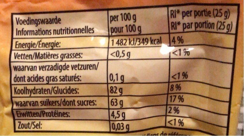 Happy peaches - Informations nutritionnelles - fr