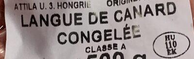Langue de canard congelée - Ingredienti - fr