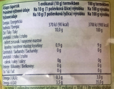 Vénusz Omega 3&6 - Informations nutritionnelles - hu