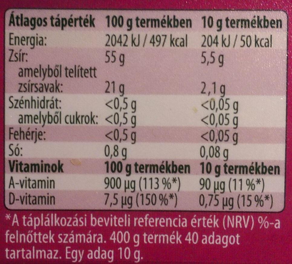 Vénusz margarin - Voedingswaarden - hu