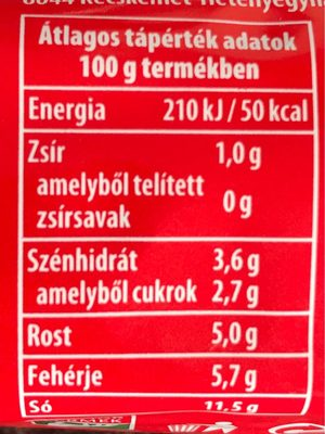 Pirosarany Csipos XL 240gr - Informations nutritionnelles