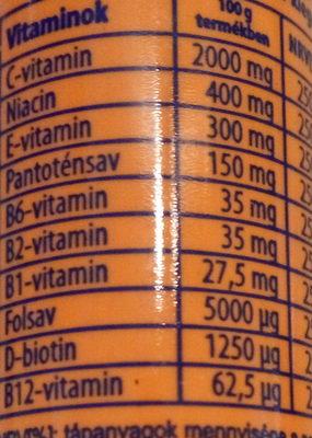 Multivitamin pezsgőtabletta - Nutrition facts - hu