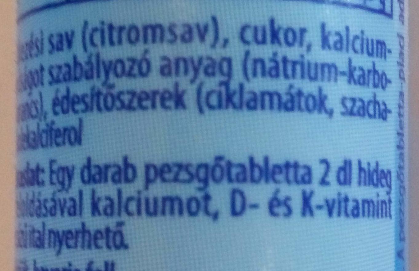 Kalcium+D+K vitamin - Ingrediënten - hu