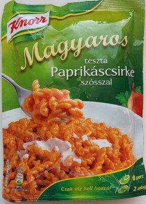 Magyaros tészta paprikáscsirke szósszal - Produit