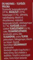 Stickletti Hagymás-Tejfölös - Ingrédients