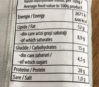 Nuts - Informations nutritionnelles - hu