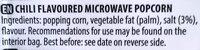 Micro pop kokice chili - Ingredients - en