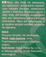 Mogyi Pászka Maces - Składniki
