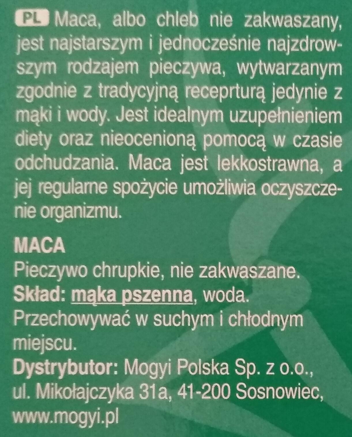 Mogyi Pászka Maces - Składniki - pl