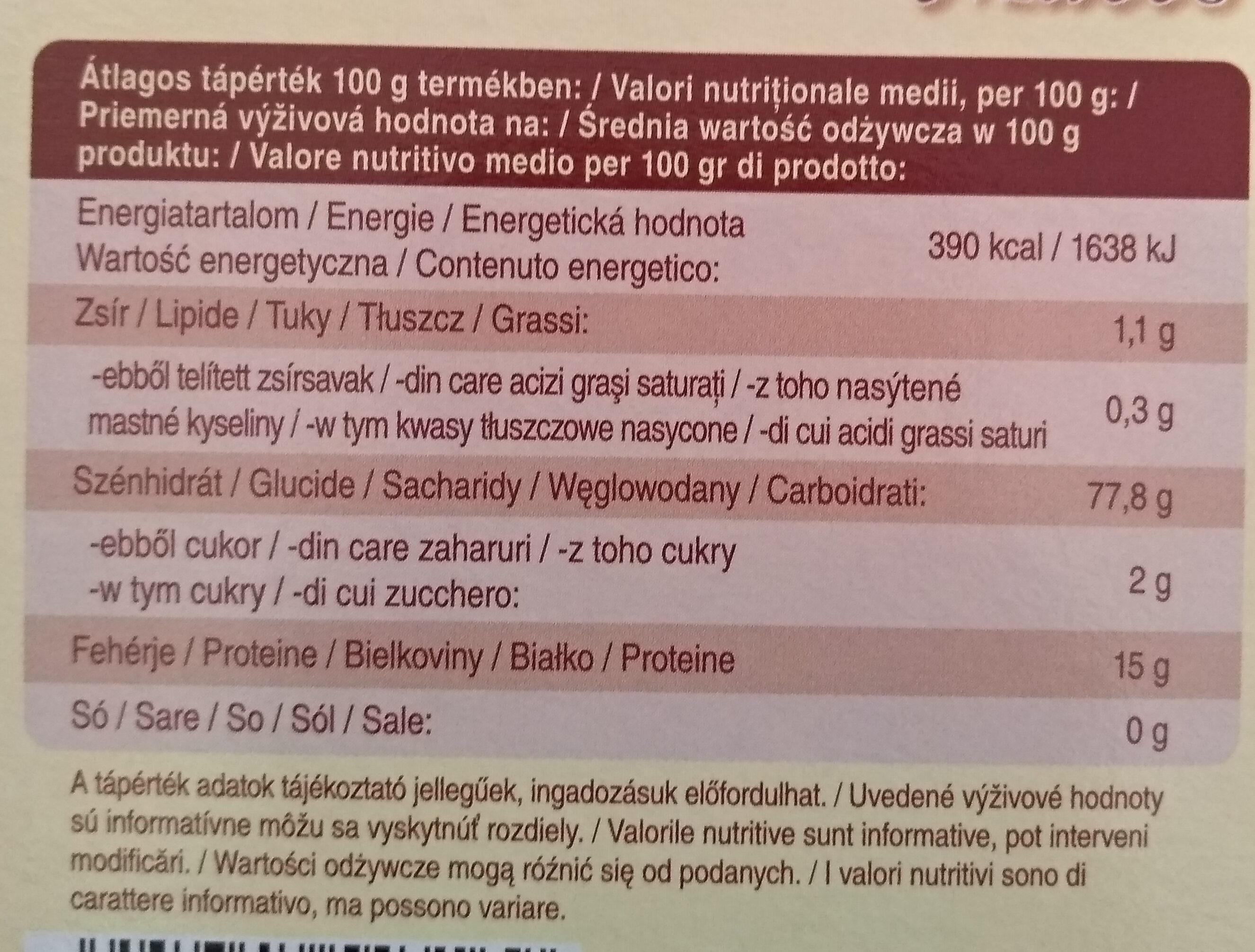 Mogyi Pászka Maces - Wartości odżywcze