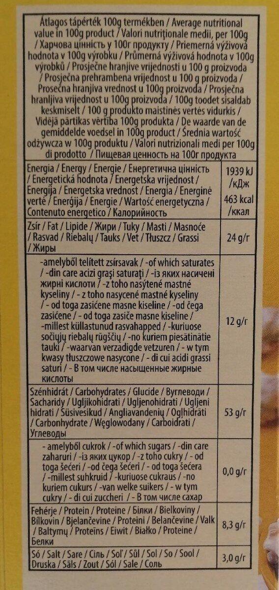 Popcorn burro - Informations nutritionnelles - hu
