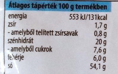 Tejfől ízű sültkrumpli fűszersó - Informations nutritionnelles - hu