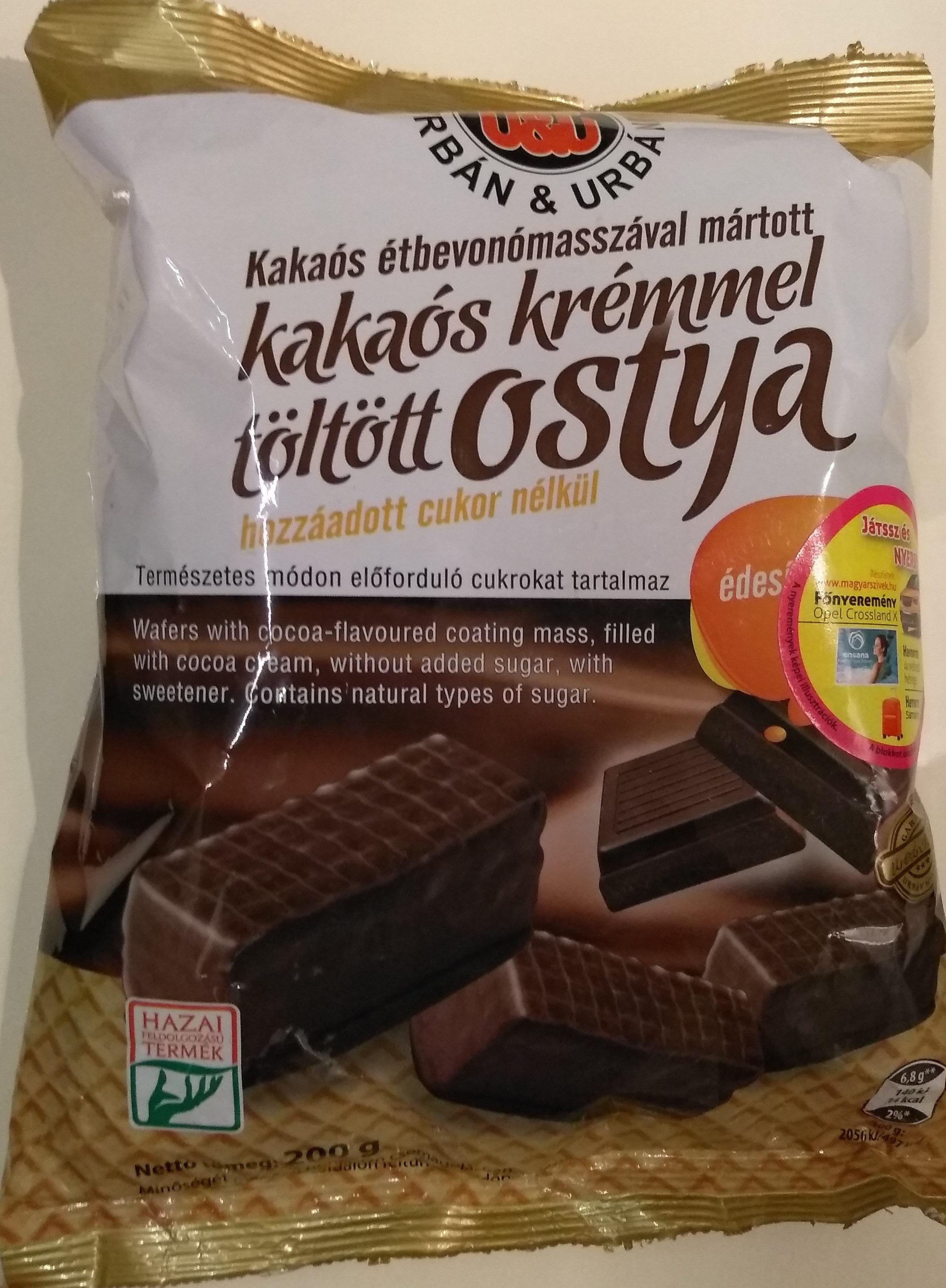 Kakaós  kérmmel töltött ostya - Produit - hu