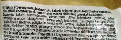 Kakaós  kérmmel töltött ostya - Ingrédients
