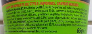 Nouilles Japonaises - Saveur Wasabi - Ingrédients - fr
