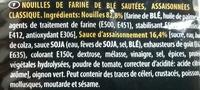 SOBA Sachet Classique - Ingredienti - fr