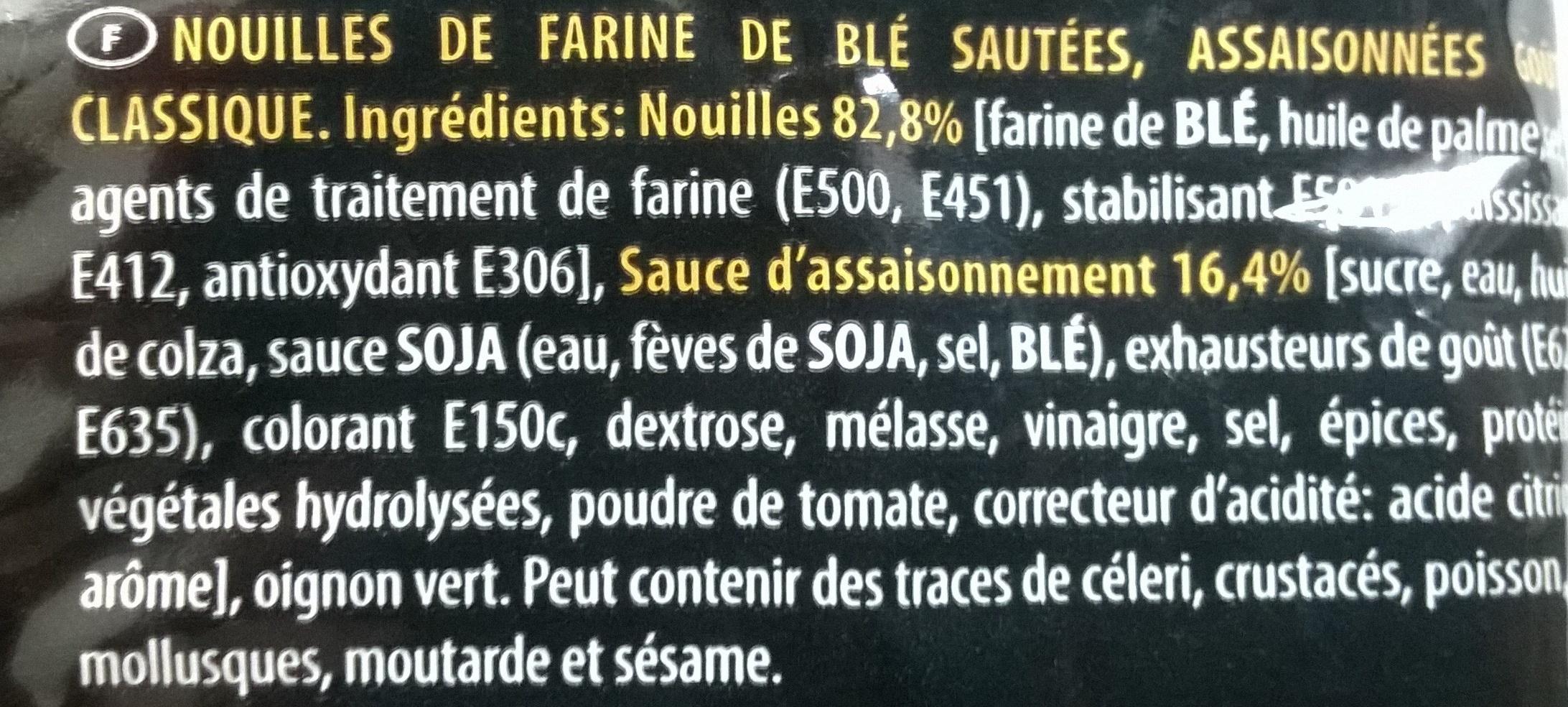 Soba classique nouilles sautées chinoises - Ingrediënten - fr