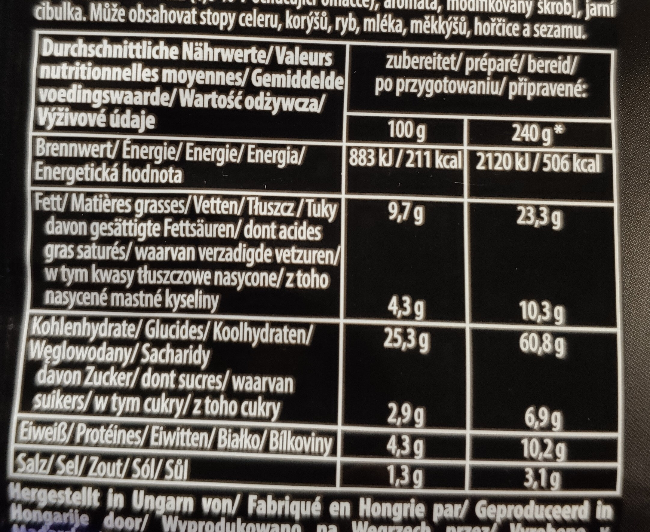 Soba Wok Style Yakitori Chicken flavour - Informations nutritionnelles - fr