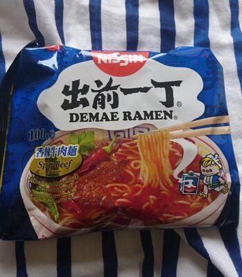 Demae Ramen Spicy Beef - Produit - fr