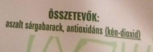 Aszalt sárgabarack magozott - Ingrédients - hu