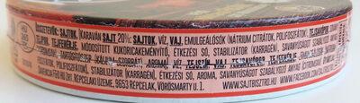 Karaván füstölt ömlesztett sajt - Ingredients - hu