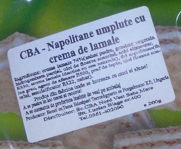 Napolitane umplute cu cremă de lămâie - Ingredients - ro
