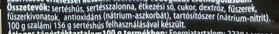 Prémium Téliszalámi - Ingrédients - hu