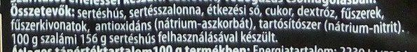 Prémium Téliszalámi - Ingrédients