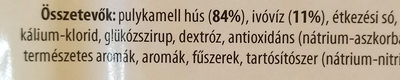 Kemencés sült pulykamell sonka - Ingrédients