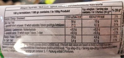 Pickstick Snack - Nutrition facts - ro
