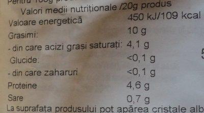Pick Cârnați stick picanți - Nährwertangaben - ro