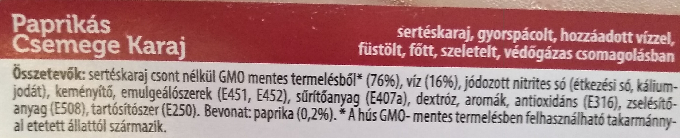 - Ingrédients - hu
