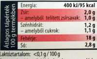 Gála csemege sonka - Informations nutritionnelles - hu