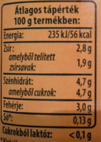 Laktózmentes tej 2,8% - Informations nutritionnelles - hu