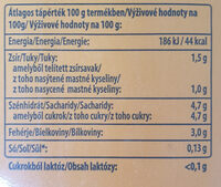 Laktózmentes tej 1, 5% - Nutrition facts - hu