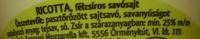 Ricotta - Ingrédients - en