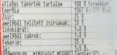 Fino Mini Trappista natúr - Informations nutritionnelles - hu