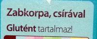Zabkorpa - Ingrédients