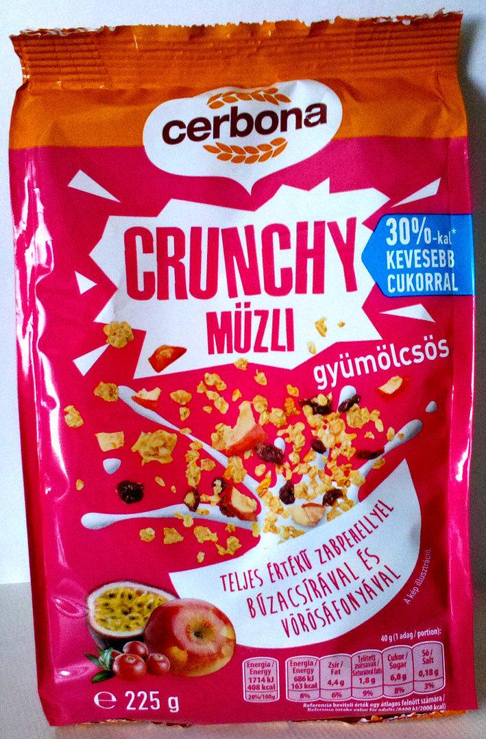 Cerbona Crunchy ropogós gyümölcsös müzli - Product - en