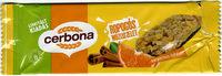 Cerbona Narancsos-fahéjas ropogós müzliszelet - Product - en