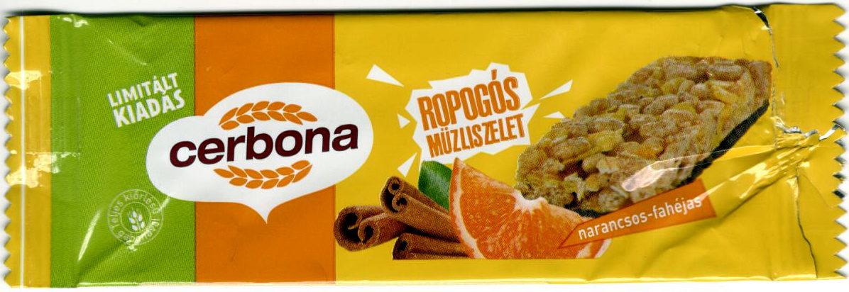 Cerbona Narancsos-fahéjas ropogós müzliszelet - Produit - hu