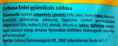 Erdei gyümölcsös zabkása - Ingrédients - hu