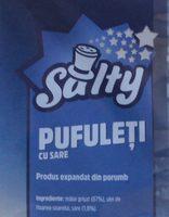 Salty Pufuleti cu sare - Ingrédients