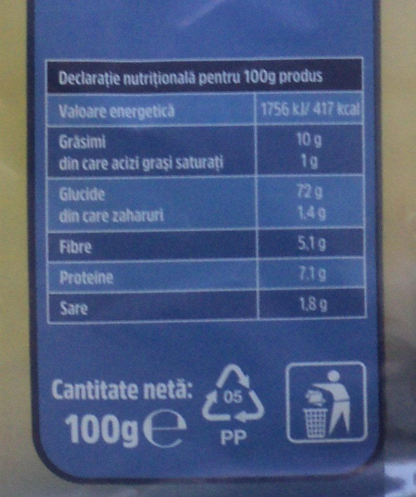 Salty Pufuleti cu sare - Informations nutritionnelles - ro