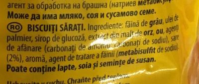 Tuc Mini Original - Ingredients - ro