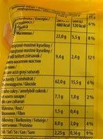 Tuc Mini Original - Nutrition facts - ro