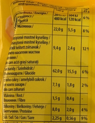 Tuc Mini Original - Nutrition facts