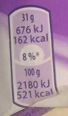 Wafelini - Informations nutritionnelles