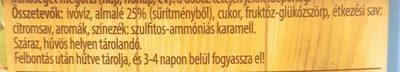 Sio Szürt alma ital - Ingredienti - hu